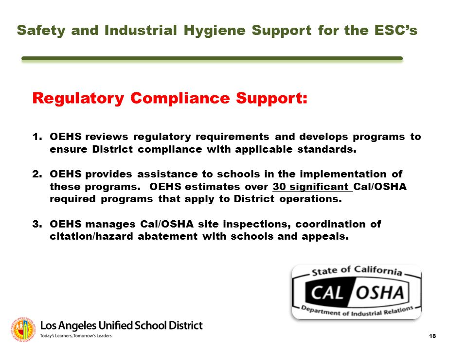 Regulatory Compliance Support: