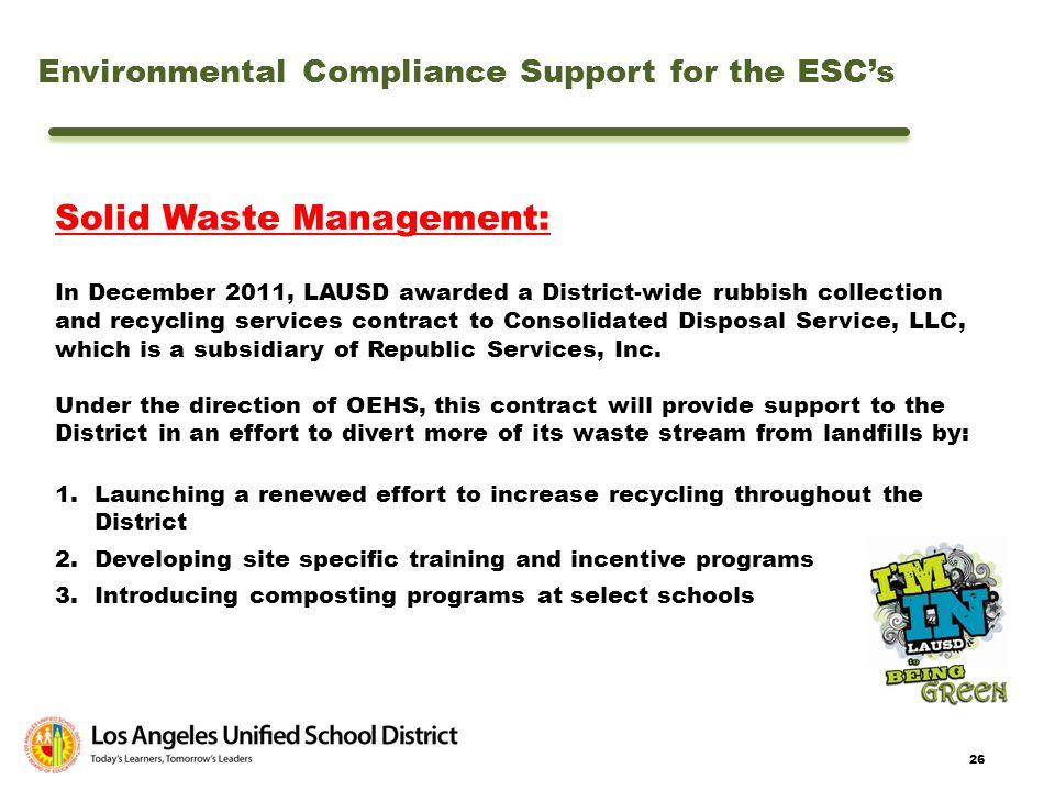 Solid Waste Management: