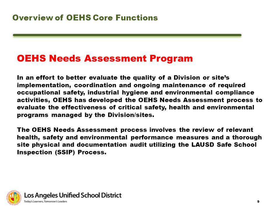 OEHS Needs Assessment Program