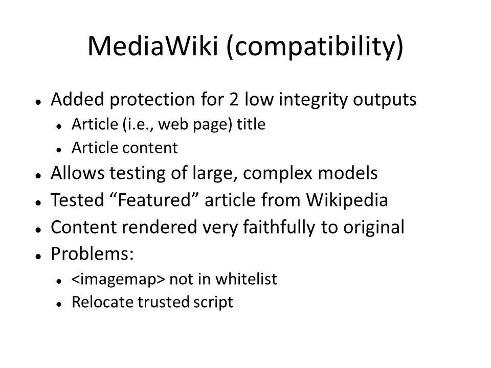 MediaWiki (compatibility)