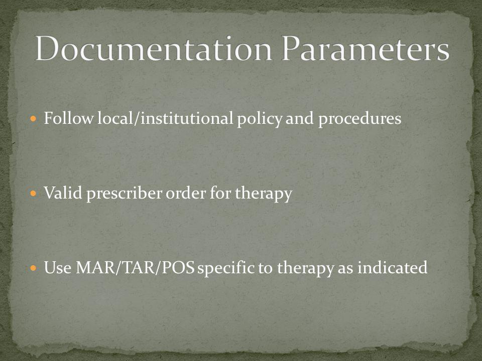Documentation Parameters