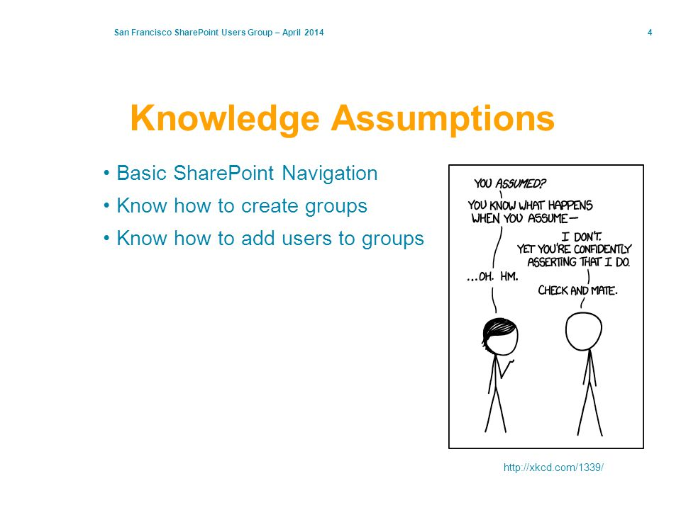 Knowledge Assumptions