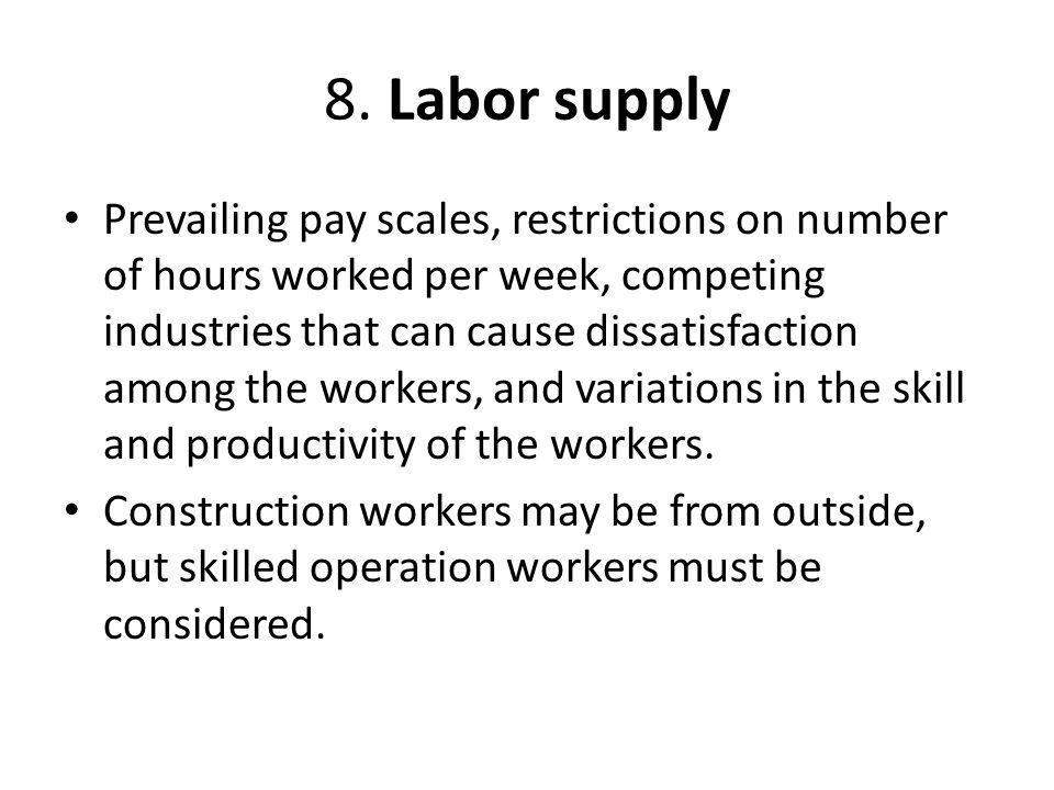 8. Labor supply