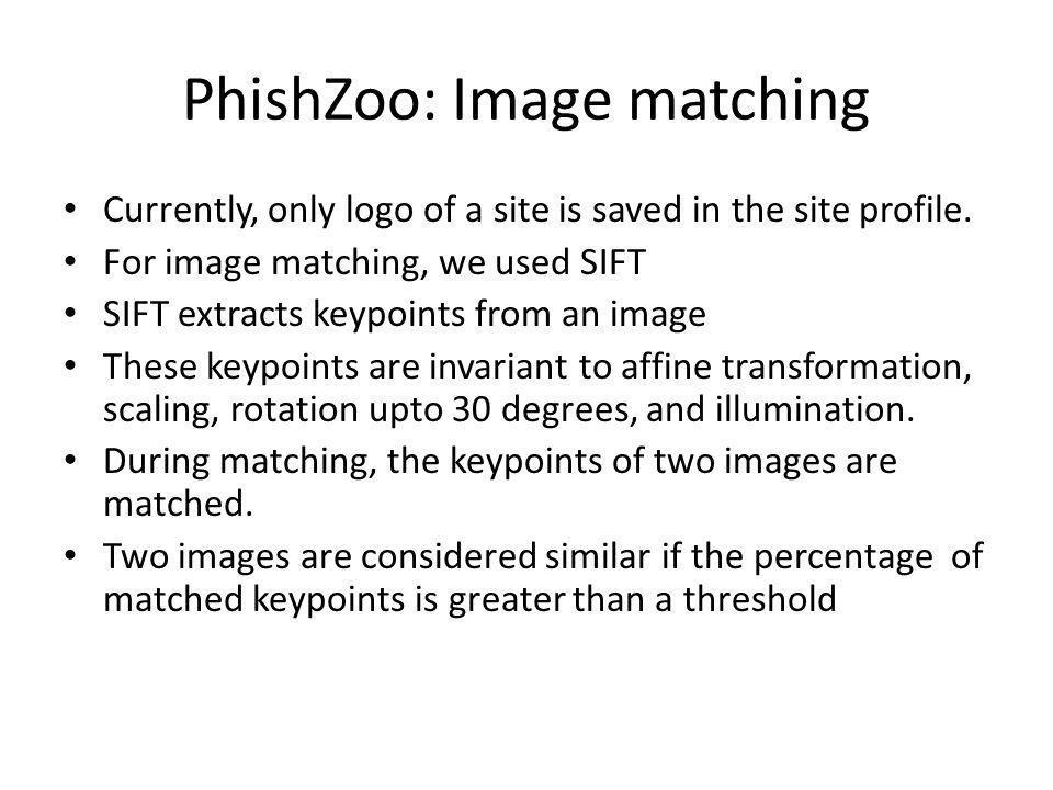 PhishZoo: Image matching