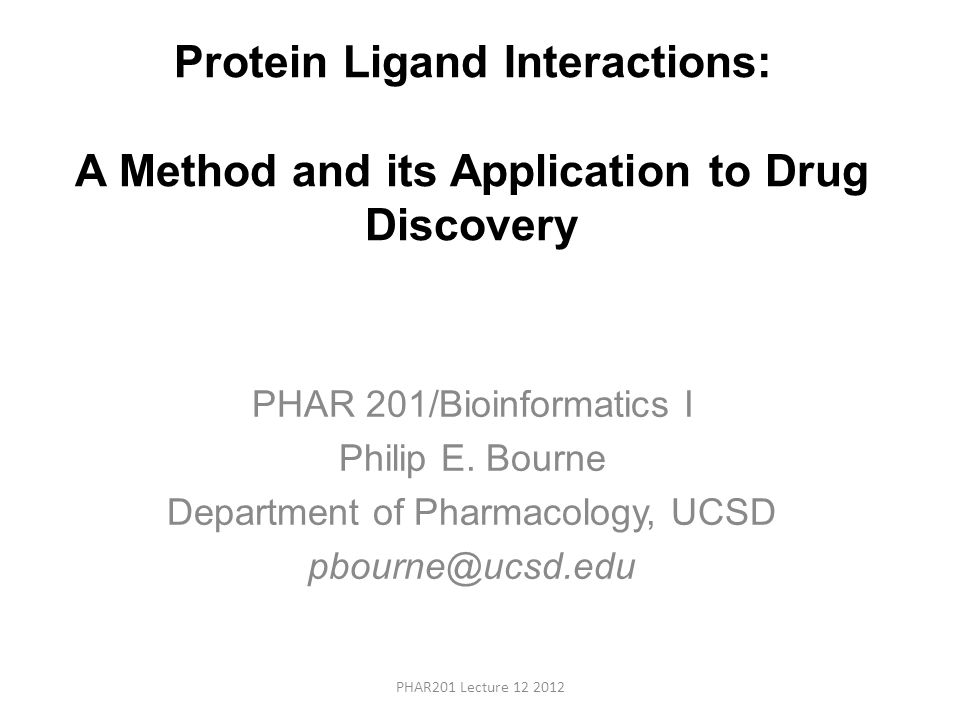 Protein Ligand Interactions: A Method and its Application to Drug Discovery