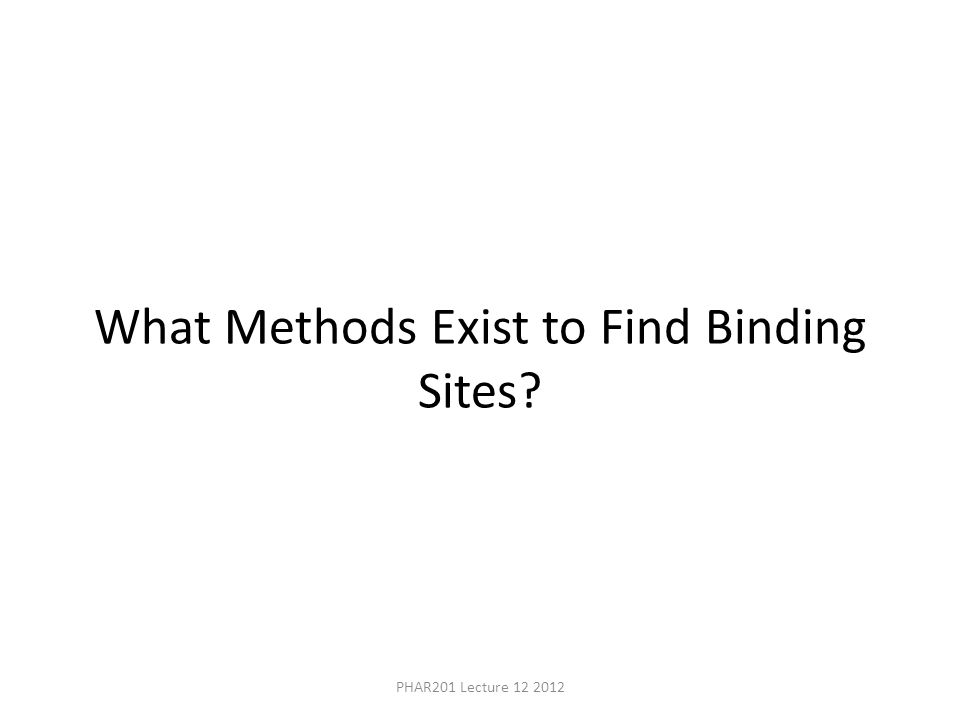 What Methods Exist to Find Binding Sites