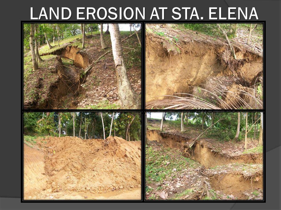 LAND EROSION AT STA. ELENA