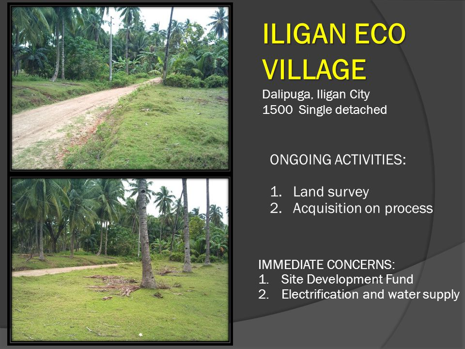 ILIGAN ECO VILLAGE ONGOING ACTIVITIES: Land survey