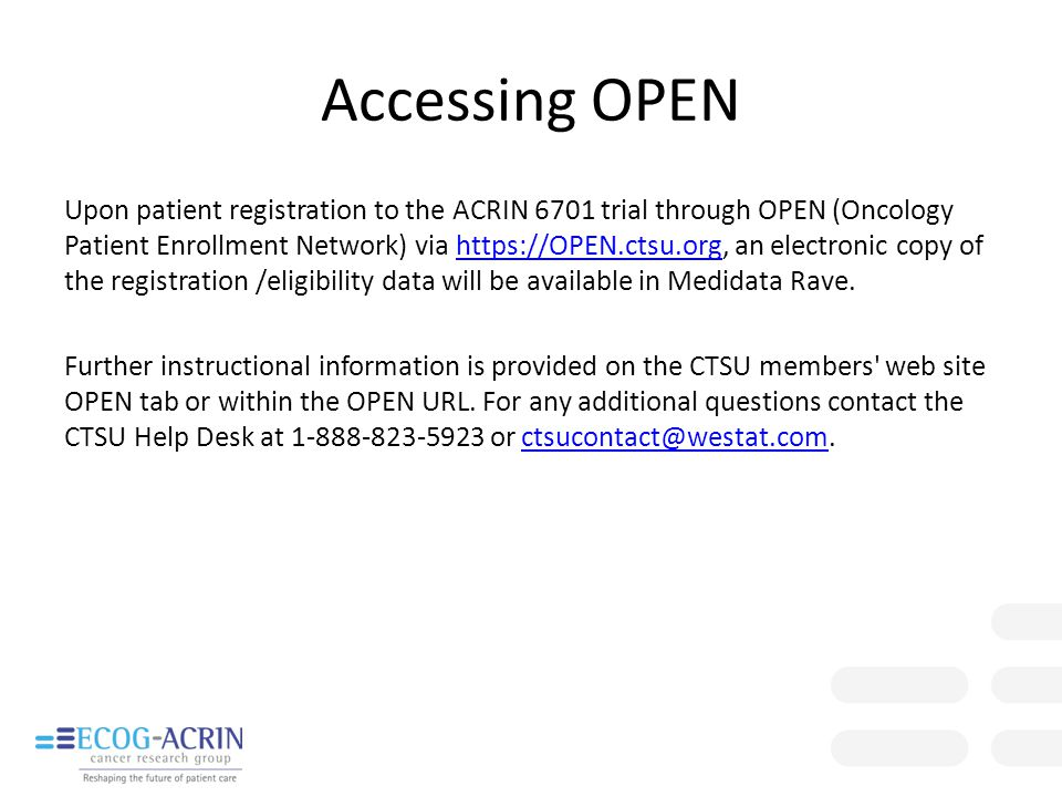 Accessing OPEN