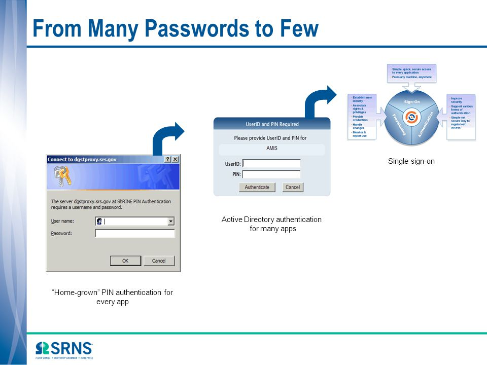 From Many Passwords to Few