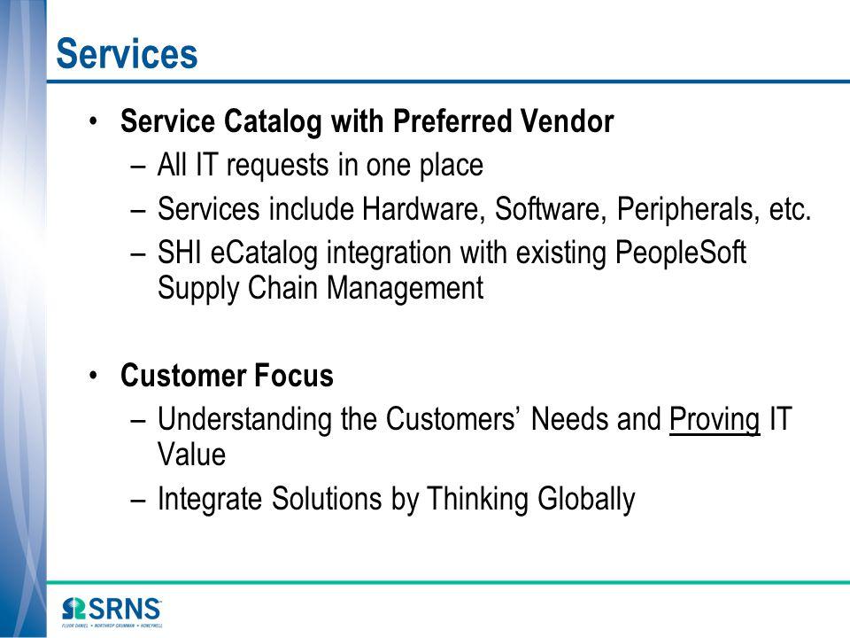 Services Service Catalog with Preferred Vendor
