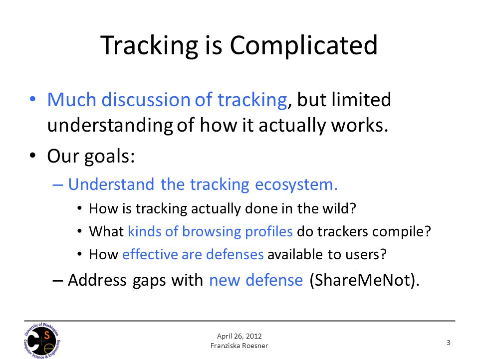 Tracking is Complicated