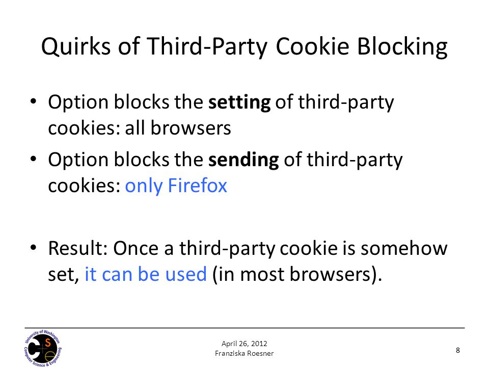 Quirks of Third-Party Cookie Blocking