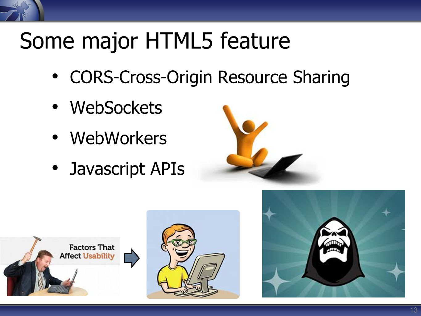 Some major HTML5 feature
