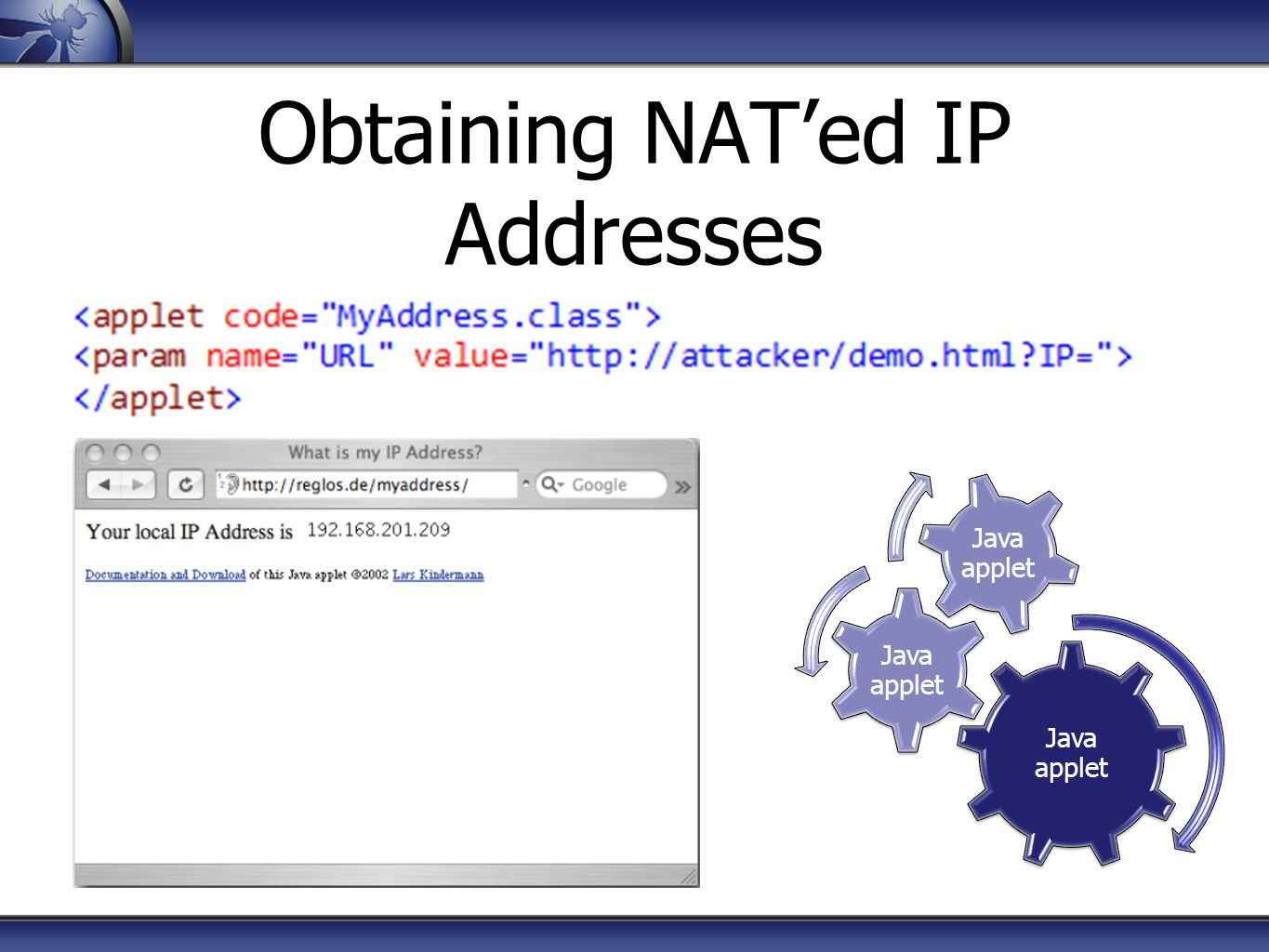 Obtaining NAT'ed IP Addresses