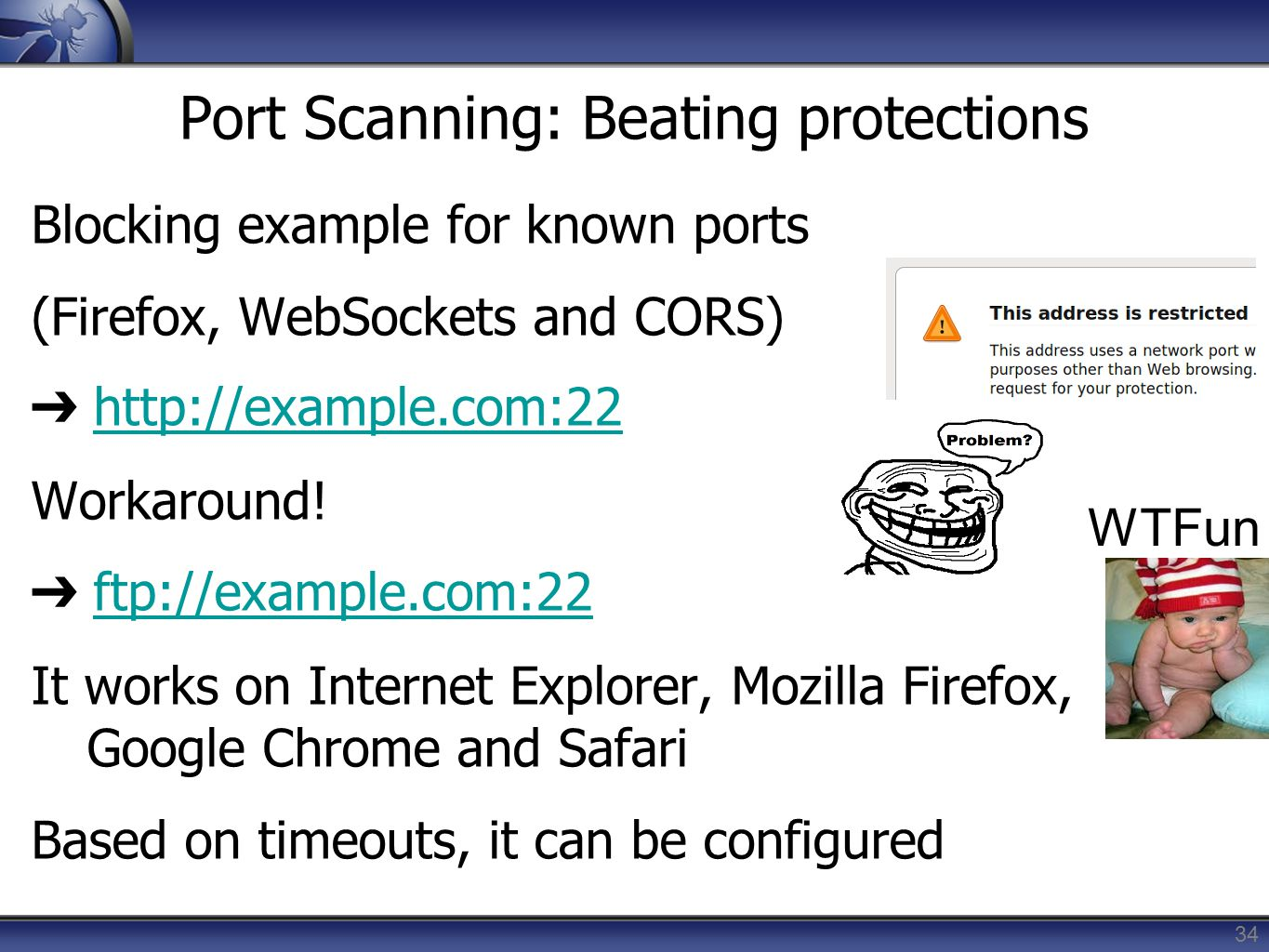 Port Scanning: Beating protections