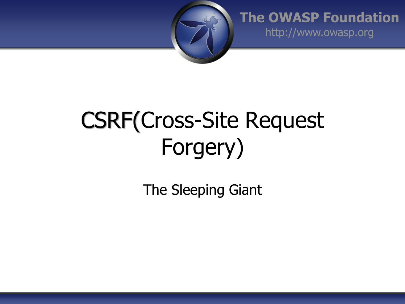 CSRF(Cross-Site Request Forgery)