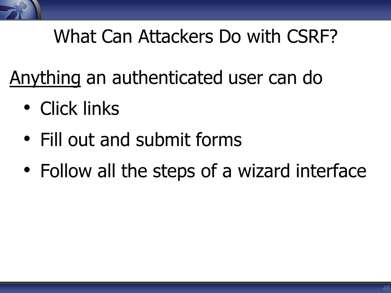 What Can Attackers Do with CSRF
