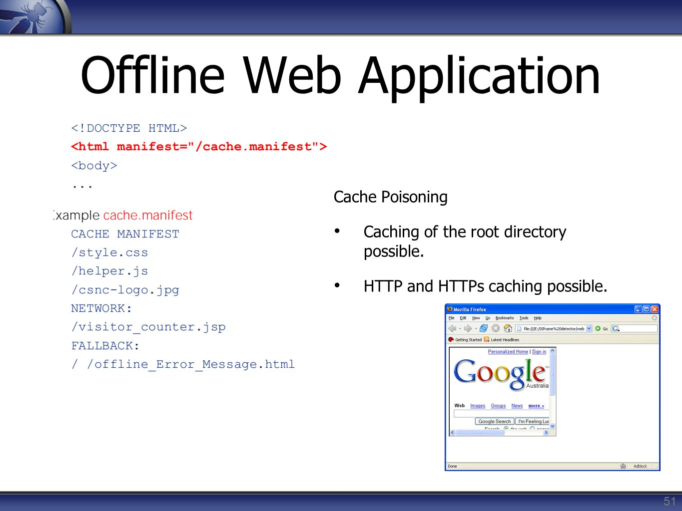 Offline Web Application