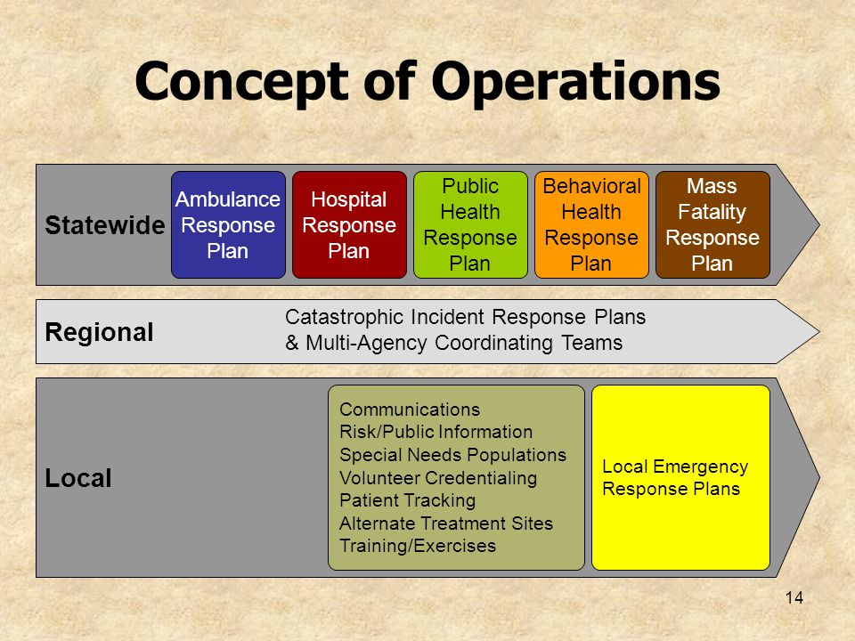 Concept of Operations Statewide Regional Local Ambulance Response Plan