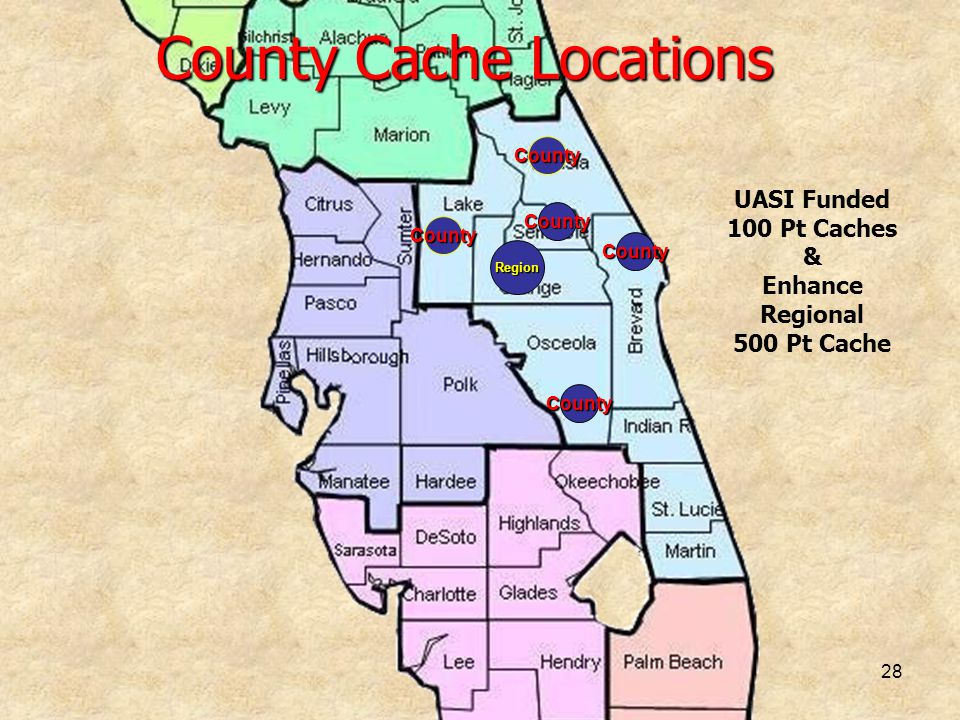 County Cache Locations
