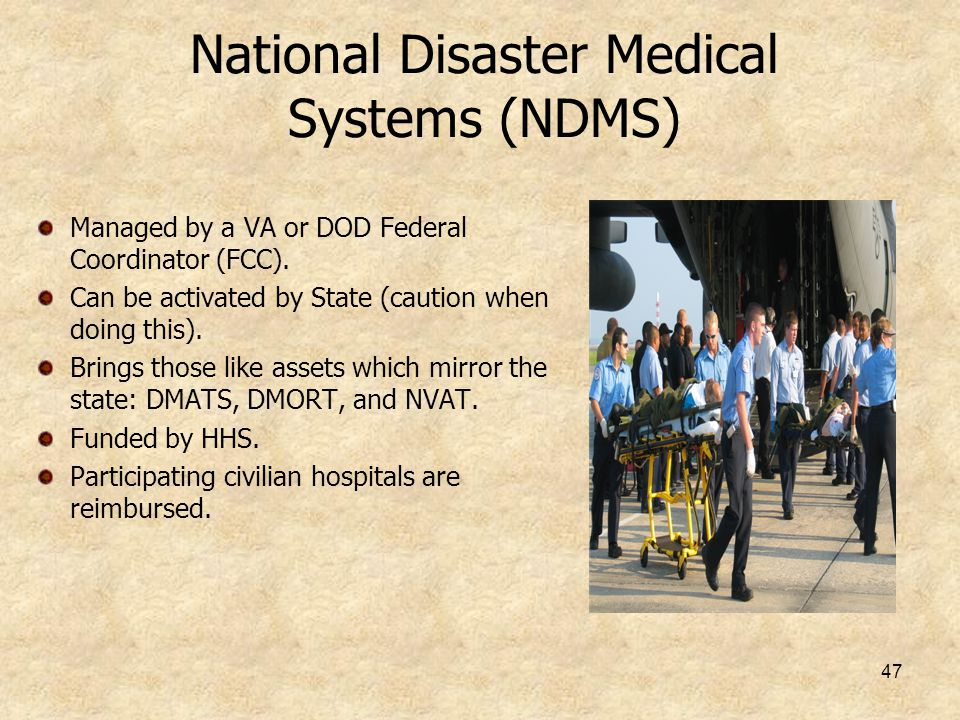 National Disaster Medical Systems (NDMS)