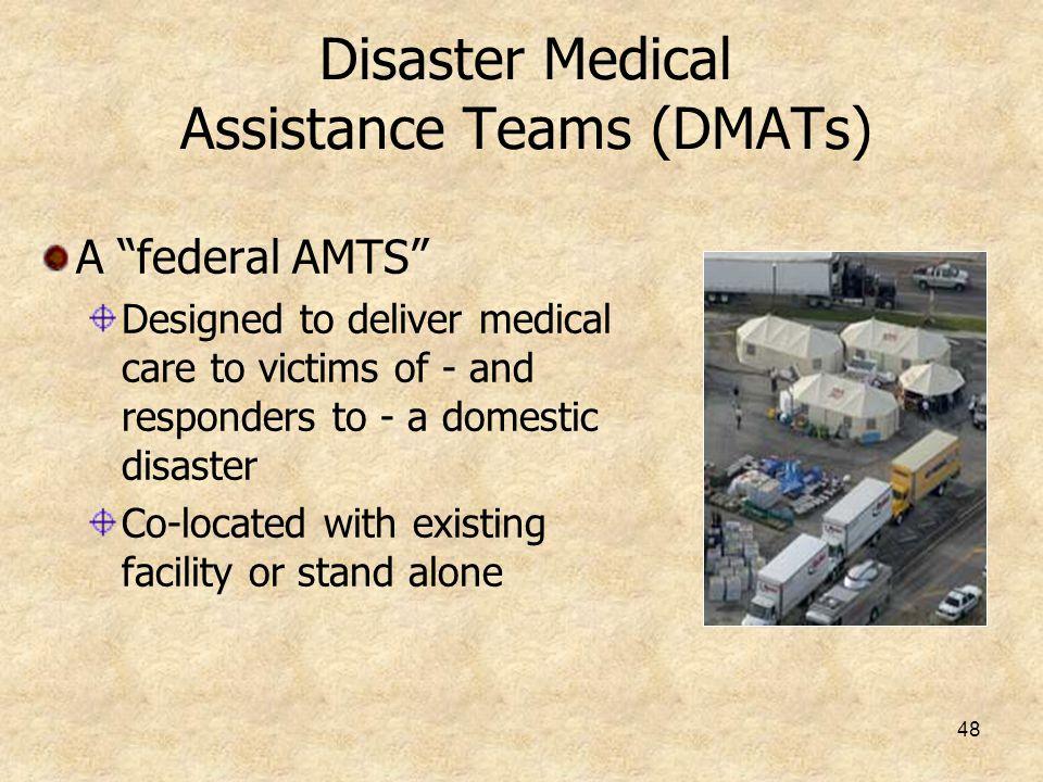 Disaster Medical Assistance Teams (DMATs)