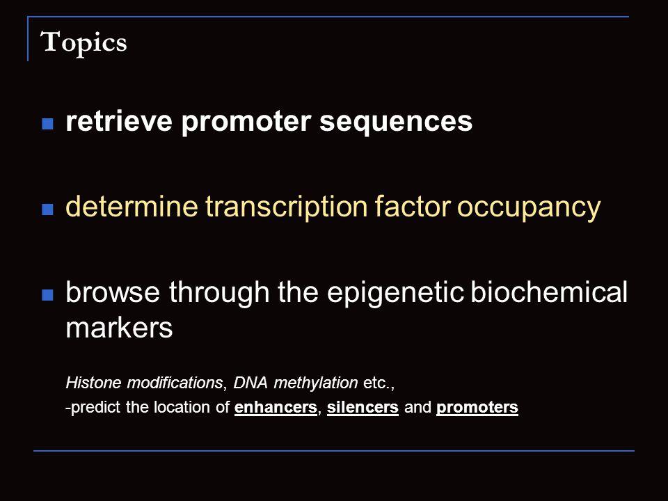 retrieve promoter sequences determine transcription factor occupancy
