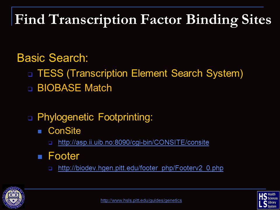 Find Transcription Factor Binding Sites