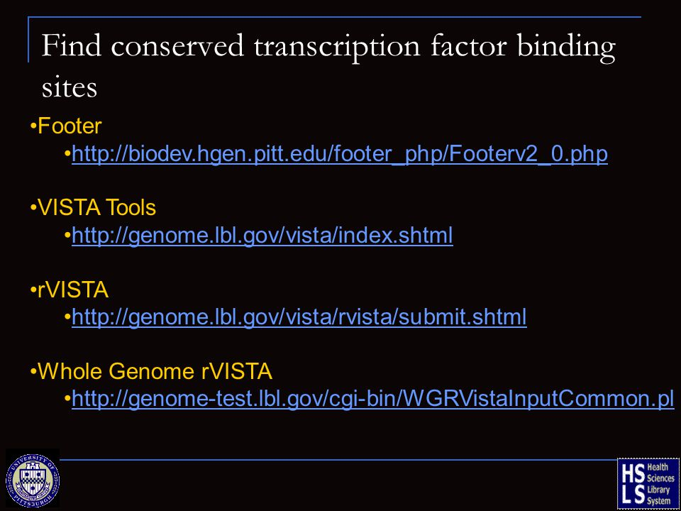 Find conserved transcription factor binding sites