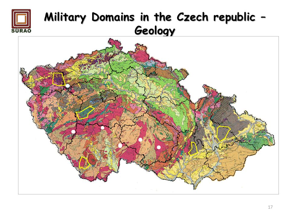 Military Domains in the Czech republic – Geology