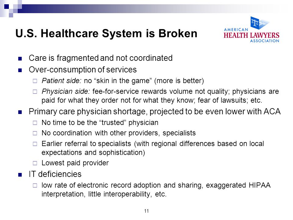 U.S. Healthcare System is Broken