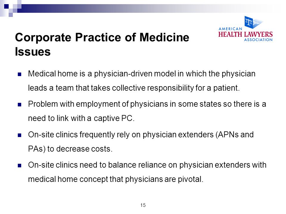 Corporate Practice of Medicine Issues