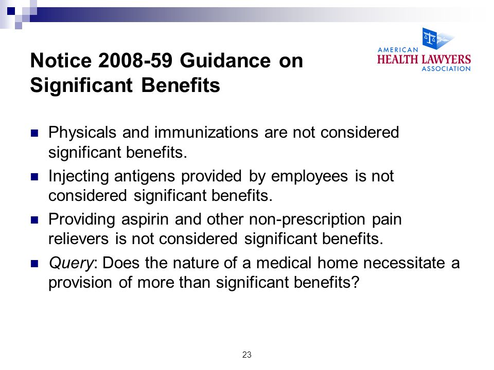 Notice 2008-59 Guidance on Significant Benefits