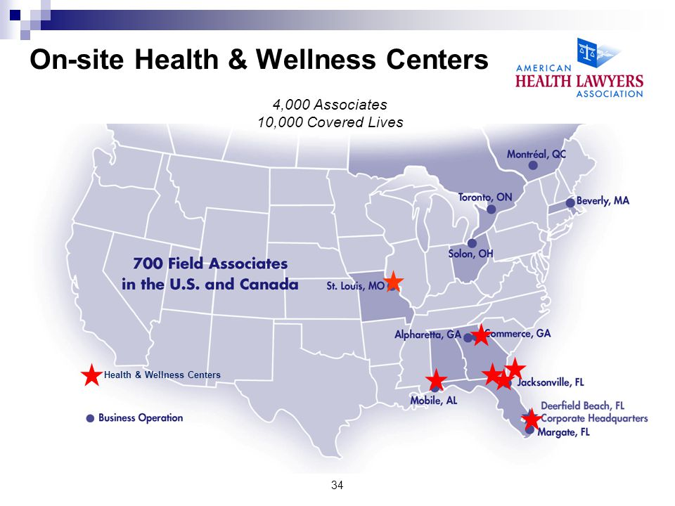 On-site Health & Wellness Centers
