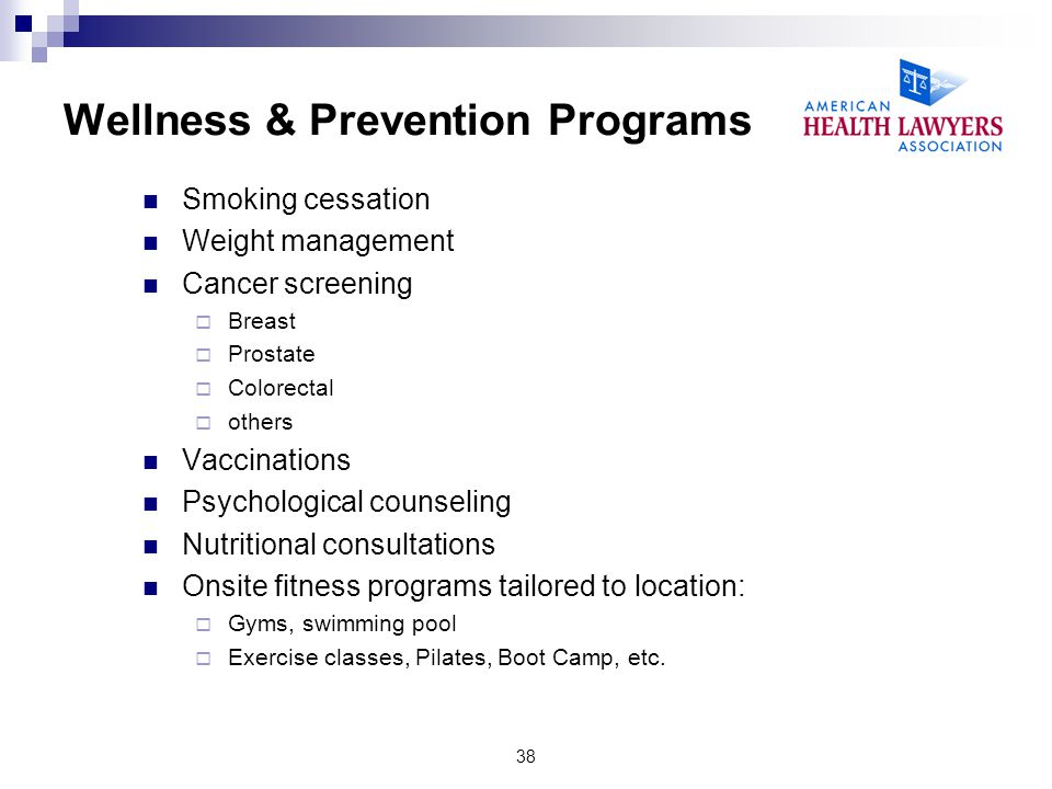 Wellness & Prevention Programs