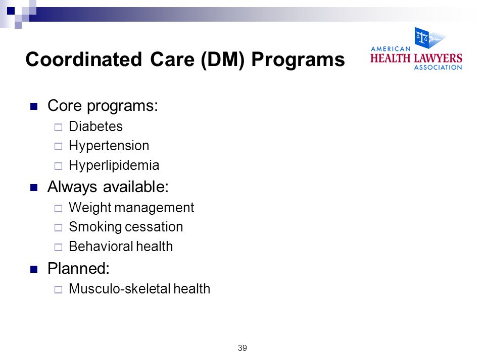 Coordinated Care (DM) Programs