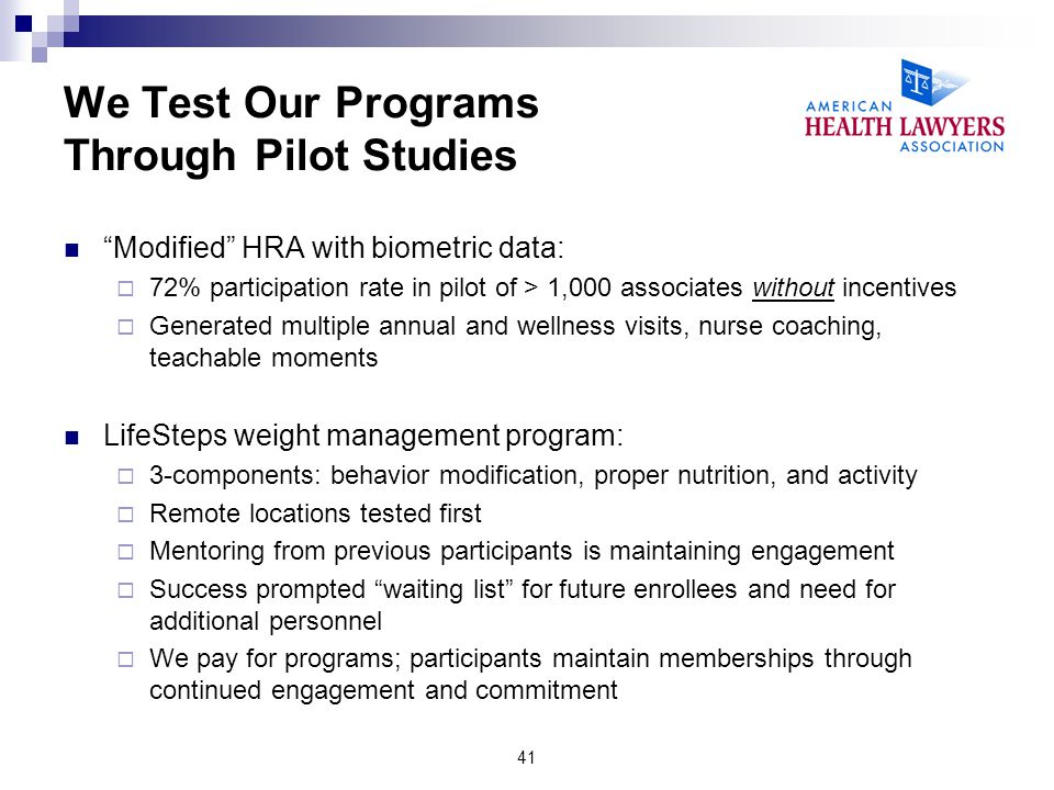 We Test Our Programs Through Pilot Studies