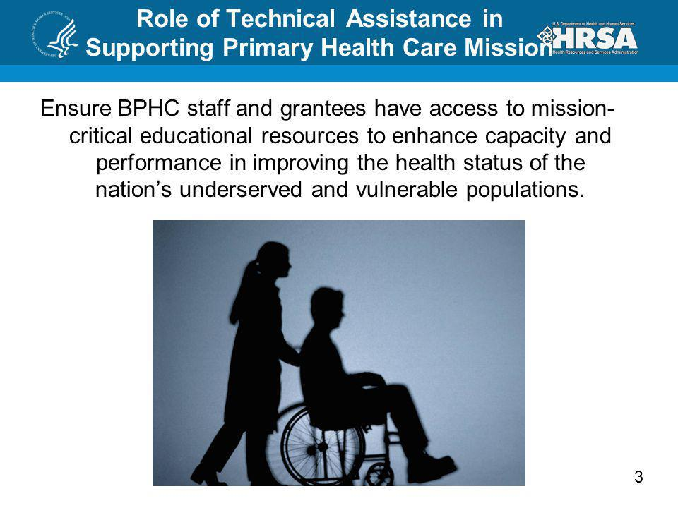 Role of Technical Assistance in Supporting Primary Health Care Mission
