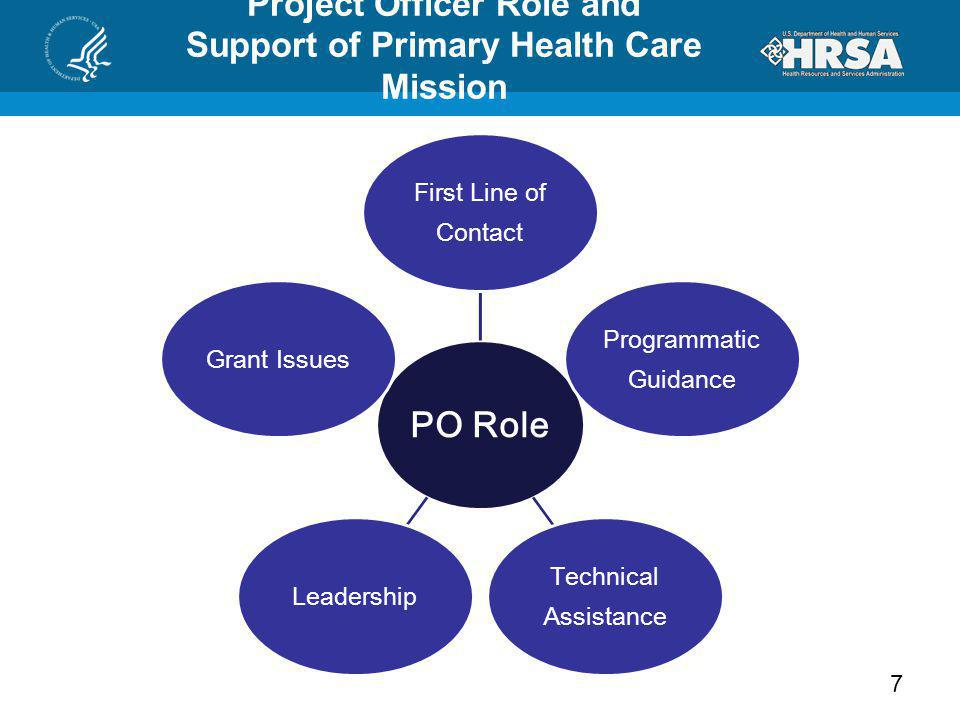 Project Officer Role and Support of Primary Health Care Mission