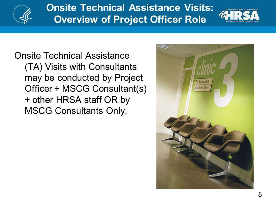 Onsite Technical Assistance Visits: Overview of Project Officer Role