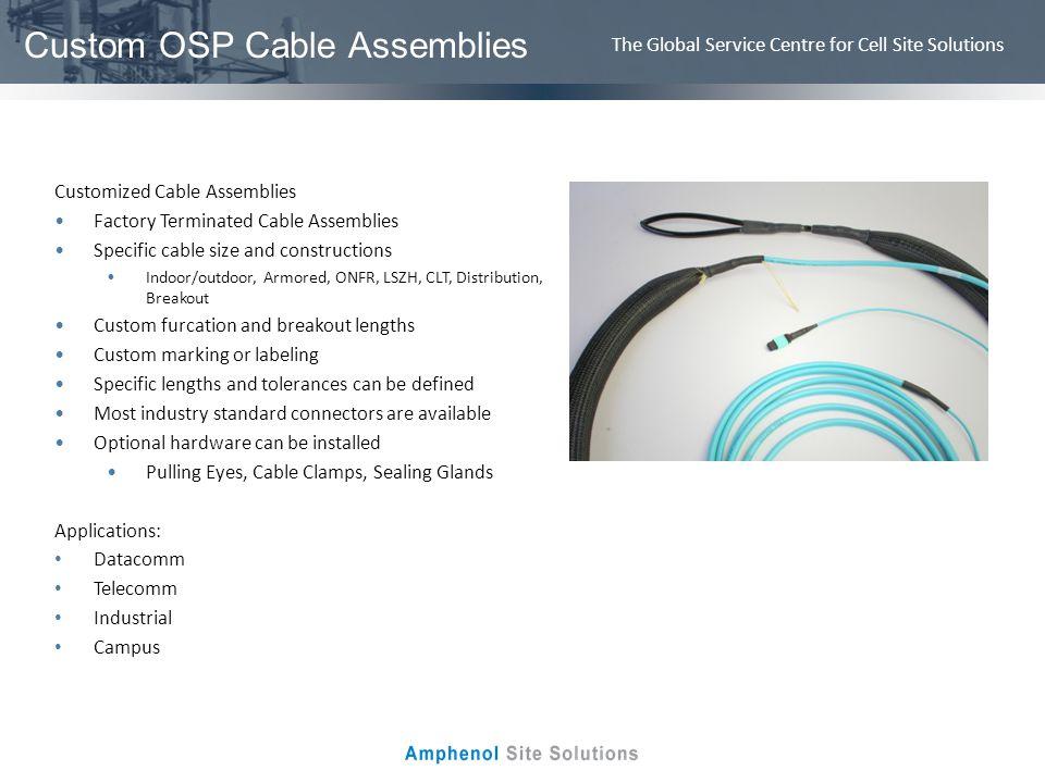 Custom OSP Cable Assemblies
