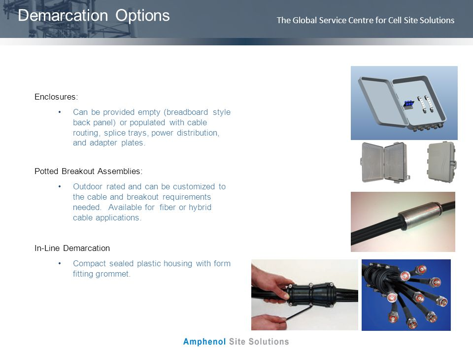 Demarcation Options Enclosures: