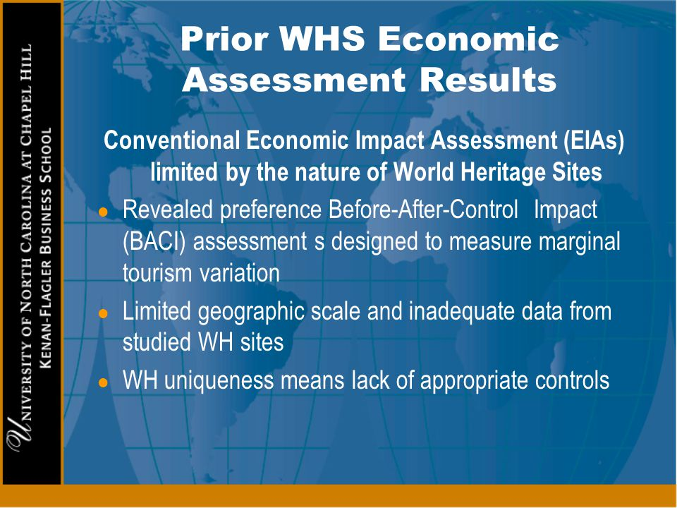 Prior WHS Economic Assessment Results