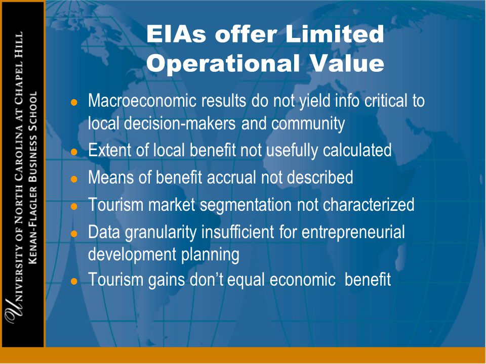EIAs offer Limited Operational Value
