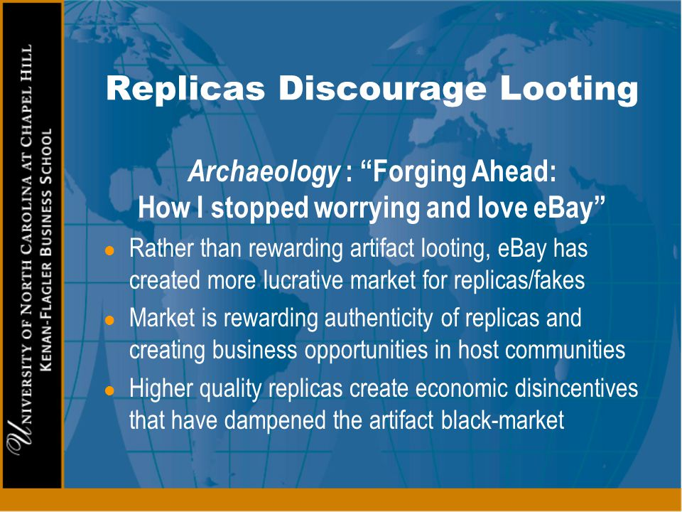 Replicas Discourage Looting