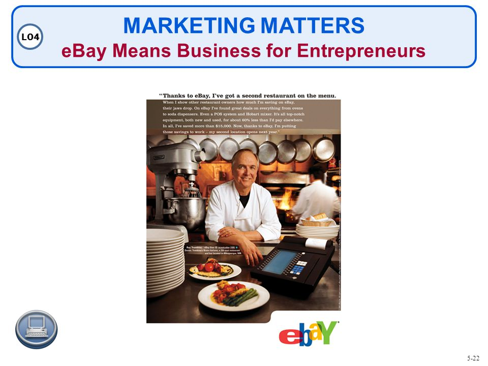 MARKETING MATTERS eBay Means Business for Entrepreneurs