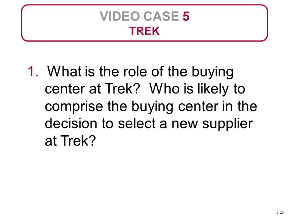VIDEO CASE 5 TREK.
