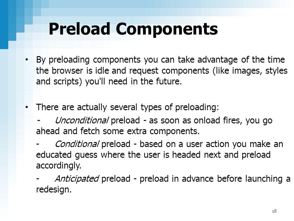 Preload Components